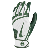 Nike Huarache Edge Batting Gloves - Men's - White / Dark Green