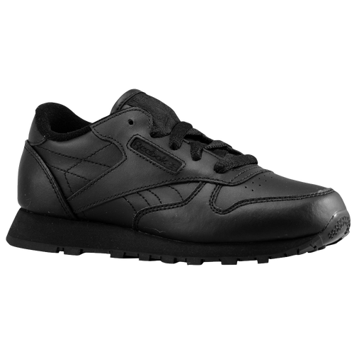 f1cd14d8767 Reebok Classic Leather Boys Toddler Running Shoes Black Black on ...