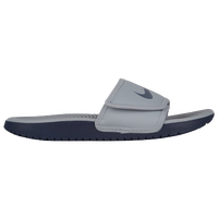 Nike Kawa Adjust Slide - Boys' Grade School - Grey / Navy