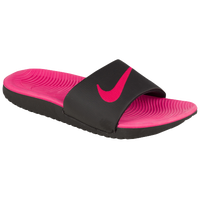 Nike Kawa Slide - Girls' Grade School - Black / Pink