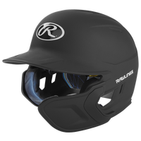 Rawlings Mach Ext Junior Batting Helmet - Grade School - Black