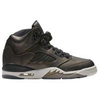 Jordan Retro 5 - Girls' Grade School - Black / White