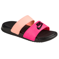 Nike Benassi Duo Ultra Slide - Women's - Pink / Black
