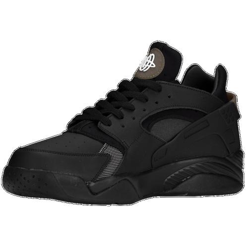 Nike Air Flight Huarache Low - Men's - Basketball - Shoes - Black/Black/ Anthracite/Black