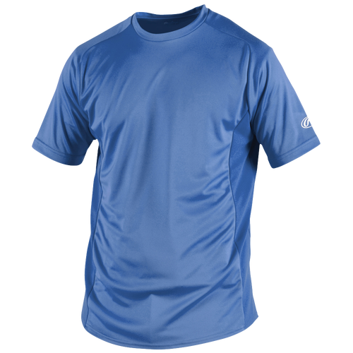 Rawlings Base Layer T-Shirt - Men's Baseball - Columbia Blue 19915113