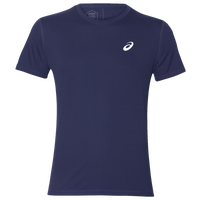 ASICS® Silver Short Sleeve T-Shirt - Men's - Navy