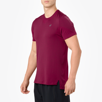 ASICS® Seamless Short Sleeve T-Shirt - Men's - Maroon