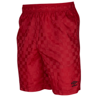 Umbro Checkerboard Shorts - Men's - Red