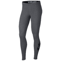 Nike Leg-A-See Logo Leggings - Women's - Grey / Black