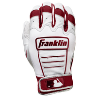 Franklin CFX Pro Batting Gloves - Men's - White / Maroon