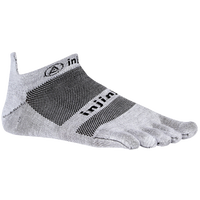 Injinji Lightweight No Show Toe Socks - Grey / Black