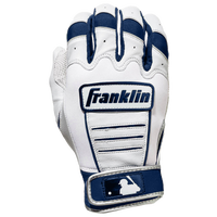 Franklin CFX Pro Batting Gloves - Men's - White / Navy