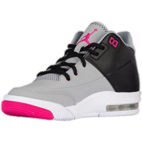 5ff35f115c3d on sale Jordan Flight Origin 3 Girls Grade School Basketball Shoes Wolf  Grey Vivid Pink Black