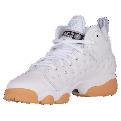 Jordan Jumpman Team II - Boys' Grade School - Basketball - Shoes - White /Black/Gum