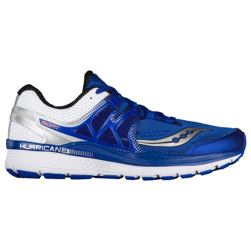 100% authentic Saucony Hurricane ISO 3 Men's Mens Blue/White/Silver Saucony Mens Running