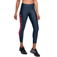 Under Armour Armour Graphic Ankle Crop Tights - Women's - Navy / Pink