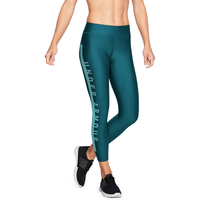 Under Armour Armour Graphic Ankle Crop Tights - Women's - Dark Green / Aqua