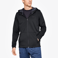 Under Armour Armour Fleece Full Zip Hoodie - Men's - All Black / Black