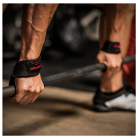 Harbinger Padded Cotton Lifting Straps - Men's - Black / Red