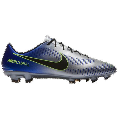 Nike Mercurial Veloce III FG - Men's - Soccer - Shoes - Racer Blue/Black /Chrome/Volt
