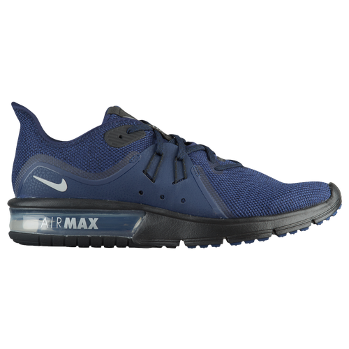 Nike Air Max Sequent 3 - Men's - Running - Shoes - Midnight Navy/Metallic  Silver/Black
