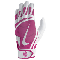Nike Huarache Edge Batting Gloves - Grade School - White / Pink