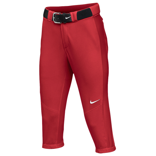 Nike Team Vapor Pro 3/4 Pants - Women's Softball - Scarlet/White 21988657