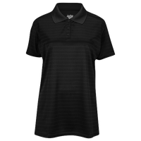 Eastbay EVAPOR Team Performance Polo 2.0 - Women's - All Black / Black
