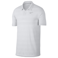 Nike Zonal Cooling Stripe Golf Polo - Men's - White / Silver