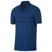 Nike Zonal Cooling Stripe Golf Polo - Men's - Blue / Black