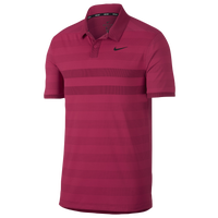 Nike Zonal Cooling Stripe Golf Polo - Men's - Pink / Black