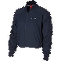 Nike Mesh Bomber Jacket - Women s - Navy   White b9ac15083