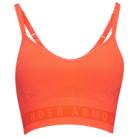 Under Armour Seamless Logo Bra - Women's - Orange / Orange