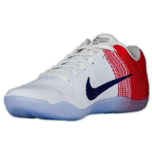 6771193895e durable service Nike Kobe 11 Elite Low Mens Basketball Shoes USA Kobe  Bryant White University Red