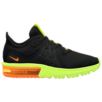 Nike Air Max Sequent 3 - Boys' Grade School - Black / Light Green