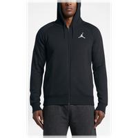 jordan clothing. jordan flight fleece full zip hoodie - men\u0027s all black / clothing