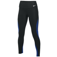 Nike Team Authentic Power Poly Wrap Tights - Women's - Black / Blue