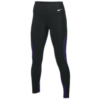 Nike Team Authentic Power Poly Wrap Tights - Women's - Black / Purple