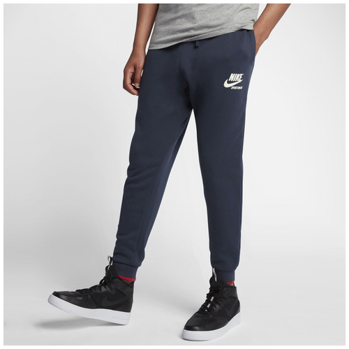 Nike Archive Fleece Jogger - Men's Casual - Obsidian/Tough Red/Sail 23484451
