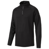 PUMA Core Golf 1/4 Zip Popover - Men's - All Black / Black