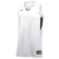 Under Armour Team Fury Jersey - Boys' Grade School - White / Dark Green