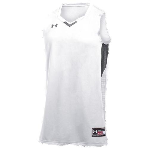 Under Armour Team Fury Jersey - Men's Basketball - White/Black 12398002