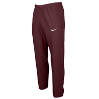 Nike Team Woven Pants - Men's - Maroon / Maroon