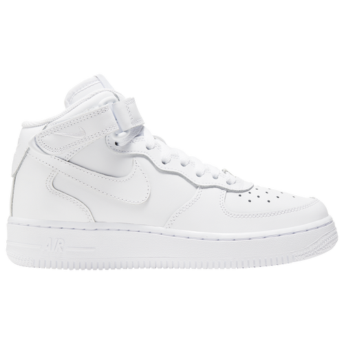 low priced 5c2bf 52461 Nike Air Force 1 Mid Boys Grade School Basketball Shoes White