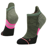 Stance Elipse Run Tab - Women's - Olive Green / Pink