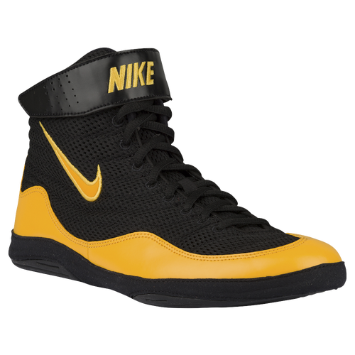 huge selection of a591d f7743 ... low cost nike inflict 3 mens wrestling shoes black university gold  university gold f9a46 8ad4e