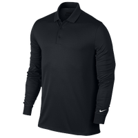 Nike Victory L/S Polo - Men's - All Black / Black