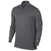 Nike Victory L/S Polo - Men's - Grey / Grey