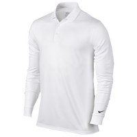 Nike Victory L/S Polo - Men's - All White / White