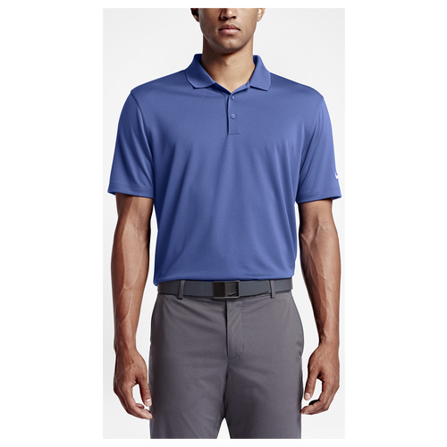 Nike Victory Solid Polo - Men's Golf - Game Royal/White 25518480